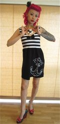 SOURPUSS  SASSY LADY DRESS ☆ BLACK  S  9号