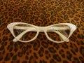 Cat Eye Glasses - White