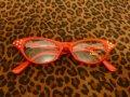 Cat Eye Glasses -Red