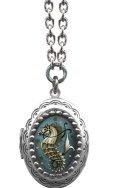 Classic HARDWARE☆Seahorse Locket Necklace