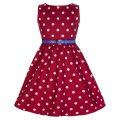 ☆Lindy Bop☆Children's Audrey Red Polka Party Dress 5〜6歳用