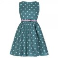 ☆Lindy Bop☆Children's Audrey Green Polka Party Dress 3〜4歳用