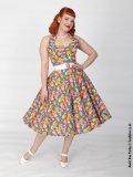 Vivien of Holloway Floral Fiesta Dress Size14(11号)