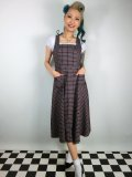 ☆Collectif☆GERTRUDE 40S CHECK PINAFORE DRESS 9号