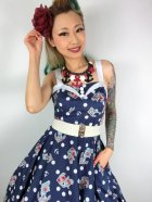 他の写真2: ☆HELL BUNNY☆Oceana 50s Dress Navy 9号