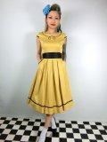☆Lindy Bop☆Bethany Mustard Swing Dress 9号