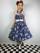 他の写真1: ☆HELL BUNNY☆Oceana 50s Dress Navy 9号