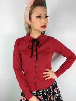 画像1: ☆Collectif☆ANDI LONGLINE CARDIGAN Red 17号