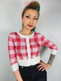 ☆Collectif☆LUCY GINGHAM CARDIGAN Red 7号