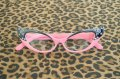 Vintage Style Glasses - Pink and Black