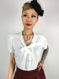☆Collectif☆ TURA PLAIN BLOUSE Ivory 17号