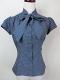 ☆Heart of Haute☆ Estelle Blouse - Cross Stitch Blue(XXL)17号
