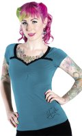 SOURPUSS  FLY RITE TOP TEAL  (S 9号)