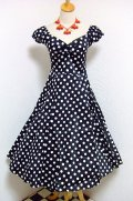 ☆Collectif☆Dolores Doll Dress Polka - Black 15号