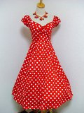 ☆Collectif☆Dolores Doll Dress Polka - Red 9号