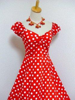 画像2: ☆Collectif☆Dolores Doll Dress Polka - Red 15号