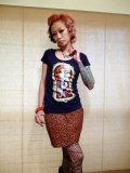 SOURPUSS  LEOPARD MINI SKIRT RED (M) 11号