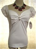 ☆Collectif☆Dolores Top Plain White 17号