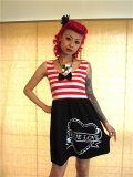 SOURPUSS  SASSY LADY DRESS ☆ RED , S 9号
