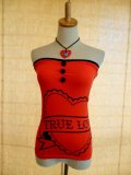 SOURPUSS Red Heart Sassy Tube Top(S)9号