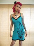SOURPUSS ☆ NAUTICAL NYMPH CAMI DRESS (M) 11号