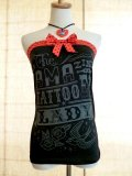 SOURPUSS Black and Red Lady Tube Top