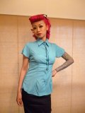 ☆Collectif☆Florida Blouse Plain Sky 7号