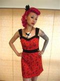 SOURPUSS  FLASH MOB SKIPPER DRESS ☆ RED , S,9号