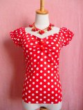 ☆Collectif☆Dolores Top Polka - Red/White 9号