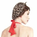 ☆Collectif☆Bandana Big Leopard Print Chiffon