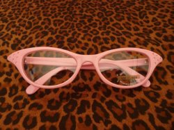 画像1: Cat Eye Glasses - Pink