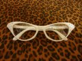 Cat Eye Glasses - White