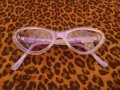Cat Eye Glasses - Tinted Purple
