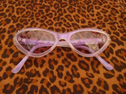 画像1: Cat Eye Glasses - Tinted Purple