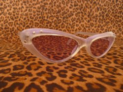 画像2: Cat Eye Glasses - Tinted Purple