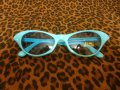 Cat Eye Glasses - Blue