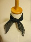 Chiffon Sheer Scarf - Black