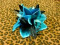 Vivien of Holloway Torquoise Orchid Hair Clip Flowers