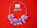 Vivien of Holloway Vintage Blossom Pearl Lilac Necklace Set