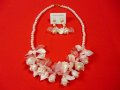 Vivien of Holloway Vintage Blossom Pearl Pink Necklace Set
