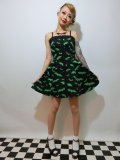 ☆HELL BUNNY☆ Bat Mini Dress Black/Green 11号