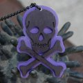 CHARCOAL DESIGNS Lost At Sea - Skull & Bones Necklace PURPLE