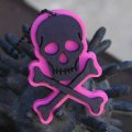CHARCOAL DESIGNS Lost At Sea - Skull & Bones Necklace PINK