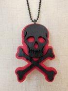 他の写真2: CHARCOAL DESIGNS Lost At Sea - Skull & Bones Necklace RED