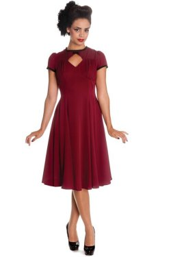 画像4: ☆HELL BUNNY☆ Nell Dress Burgundy 9号