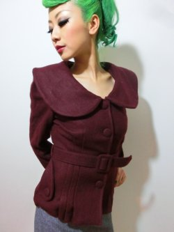画像4: ☆Collectif☆Geraldine Jacket Burgundy 7号