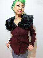 他の写真1: ☆Collectif☆Geraldine Jacket Burgundy 7号