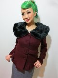 ☆Collectif☆Geraldine Jacket Burgundy 7号