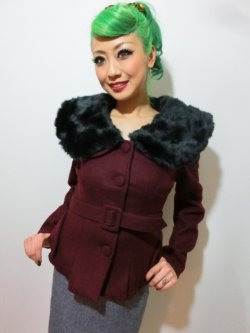 画像1: ☆Collectif☆Geraldine Jacket Burgundy 7号