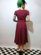 他の写真3: ☆HELL BUNNY☆ Nell Dress Burgundy 9号